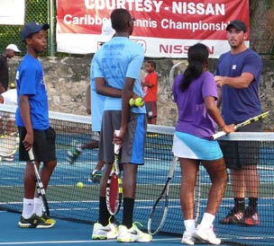 The Barbados Tennis team